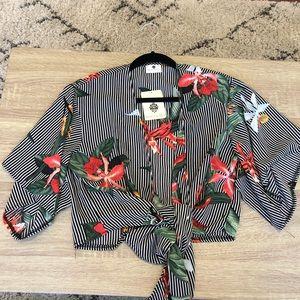 Princess Polly Floral Tie Shirt